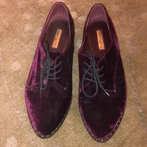 Report signature purple velvet shoes size 8